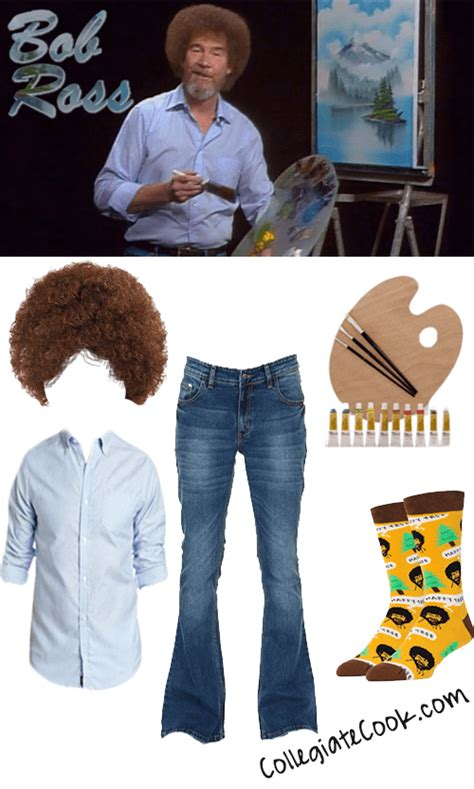 bob ross painting dress costume bob ross costume how to make a diy costume hubpages