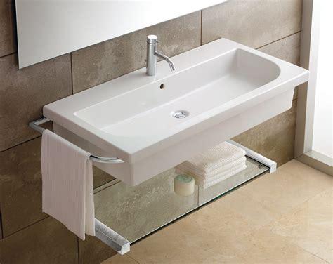 Superb Wall Mounted Sinks For Small Bathrooms #2: Modern-Wall-Mounted-Bathroom-Sink.jpg