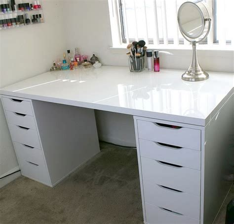 makeup table with alex drawers alex drawer makeup organizer home design ideas