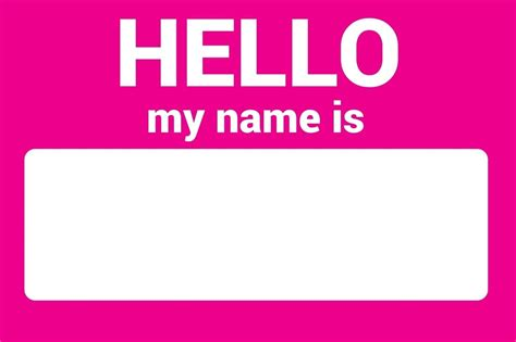 name this name tag self adhesive sticker hello my name is team