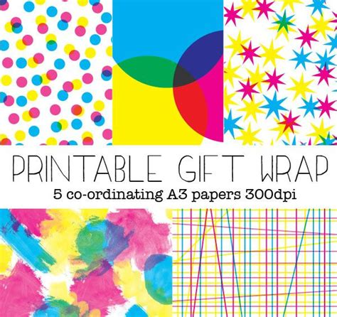 printable wrapping paper birthday free printable gift wrapping paper fun gift wrapping ideas