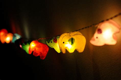 Paper Lantern Lights For Bedroom Handmade Elephant Paper String Light Lantern Mix By Cottonlight