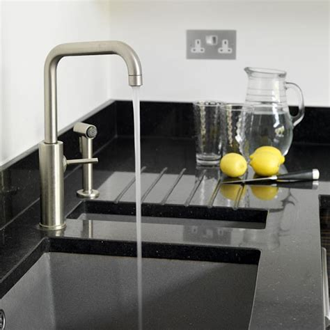kitchens sinks and taps sink and tap take a tour around a modern white and dark