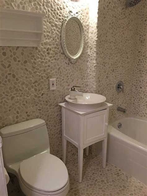 pebble tiles for bathroom white pebble tile pebble tile shop