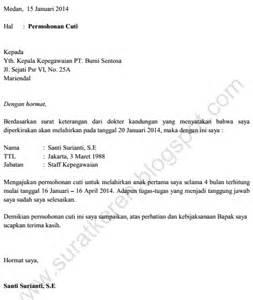contoh surat cuti tanpa gaji newhairstylesformen2014