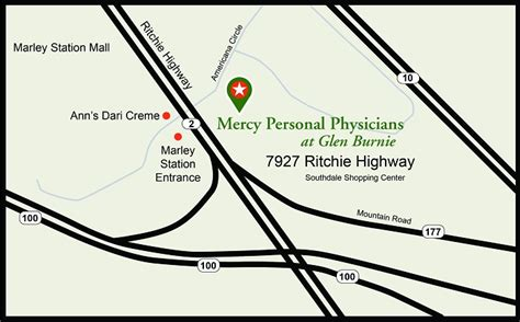 directions to 7927 ritchie highway mercy personal