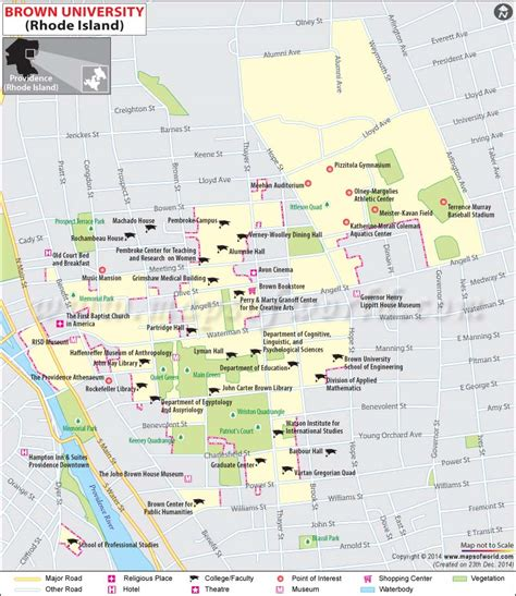 college map where is brown brown location map