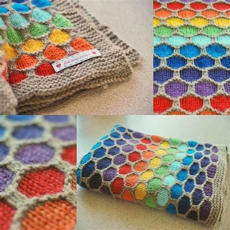 honeycomb knitted blanket pattern tutorial