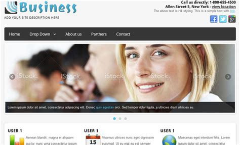 simple free joomla templates simple slick business free joomla template