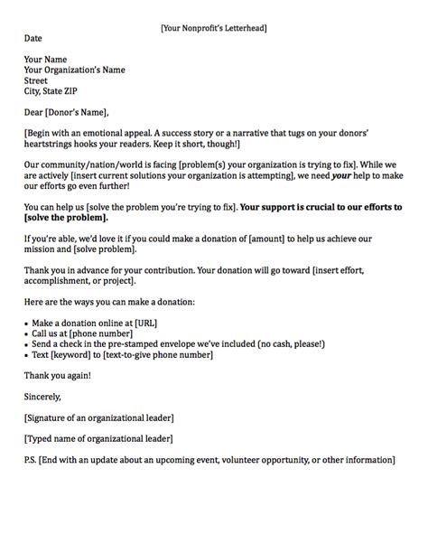 Fundraising Letter Previous Donor Fundraising Letters How To Craft A Great Fundraising Appeal