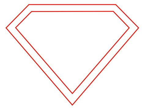 Superman Logo Template blank superman logo template clipart best