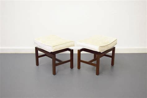 Floating Stools by Pair Of Floating Walnut Stools By Jens Risom For Sale At