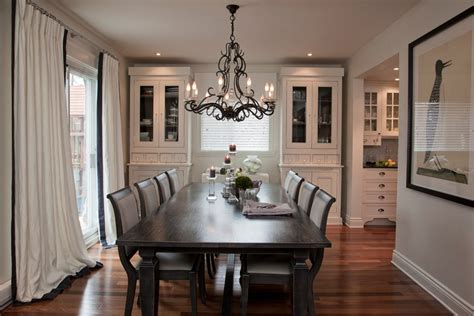 Wonderful Traditional Curtains For Living Room #4: Montreal-dining-room-cabinets-ikea-with-traditional-wall-mirrors-and-black-white-curtains.jpg