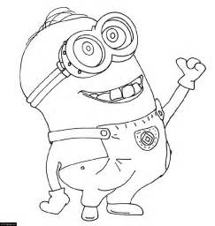 despicable minions coloring pages despicable me smiling minion coloring page for