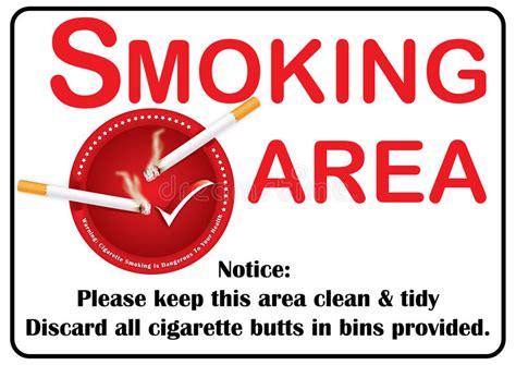 printable area a3 printable smoking area image stock illustration