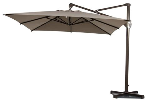 Abba 10 Heavy Duty Square Offset Cantilever Outdoor Square Cantilever Patio Umbrella