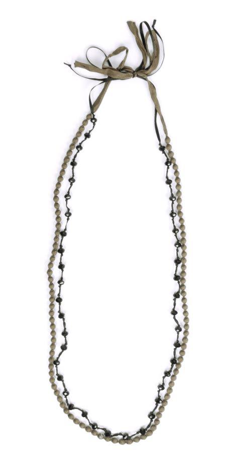 Baju Atasan Blouse Tunik Khaki Layered Necklace S Import Original masai clothing agape necklace in 091 khaki
