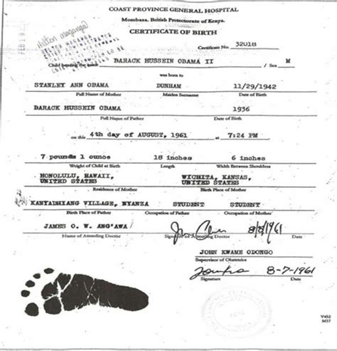 Gov Birth Records Whats On The Sarge S Mind Government Releases Obama S