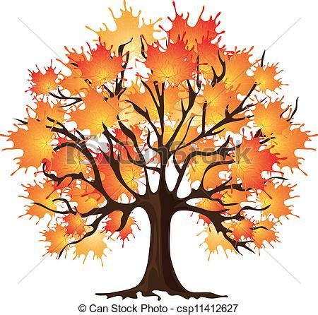 clip art of art autumn tree. maple csp11412627 search