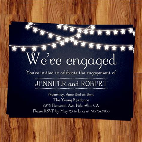rustic outdoor chalkboard cheap engagement party invitation cards EWEI014 as low as $0.94