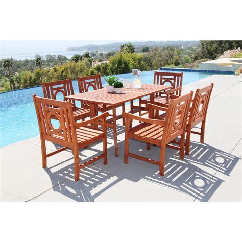 Malibu Patio Furniture Vifah Malibu 7 Rectangle Patio Dining Set Shop Your Way Shopping Earn Points