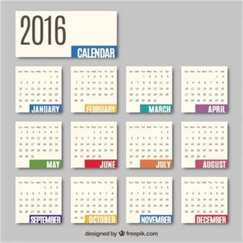 calendar 2016 vectors, photos and psd files | free download