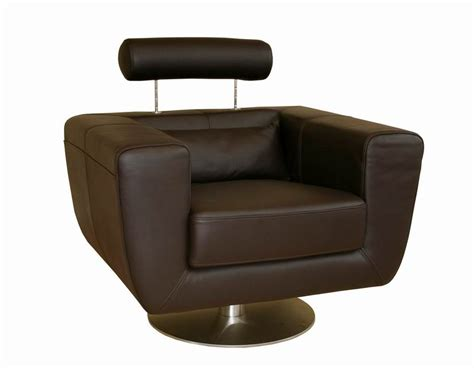 Tad Leather Modern Club Chair Swivel Action Dark Brown Ebay Leather Club Chair Swivel