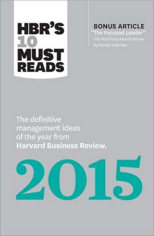 Buy Your Way Into Harvard Mba by Cartea Hbr S 10 Must Reads 2015 Hbr S 10 Must Reads