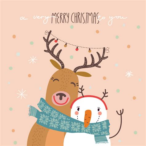 happy hug christmas card   island