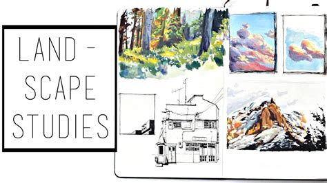 how to do a sketchbook landscape painting practice 183 30 ways to fill a sketchbook