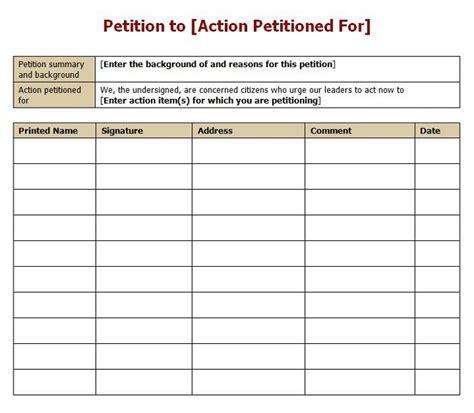 petitions template 30 petition templates how to write petition guide