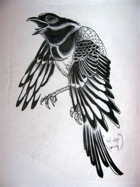 image result for flying magpie tattoo tattoo pinterest