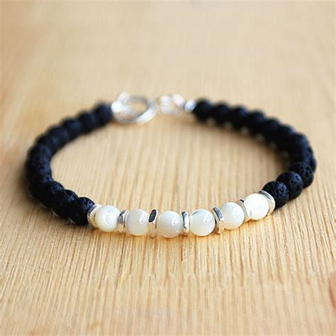 mens lava bracelets s shell and lava beaded bracelet jewelry1000