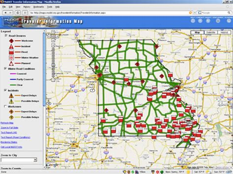 modot road closure map modot traveler information map autos post