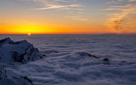 imagenes 4k para mac nature mountain range fog sunrise landscape tree mac ox