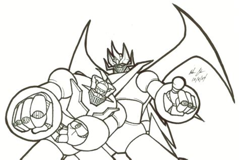 Mazinger Z Drawing by Doublemazinger By Mazingo5 On Deviantart