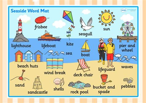 Words With Mat In Them by The Seaside Word Mat Seaside Seaside