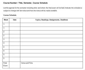 class syllabus template image gallery syllabus template