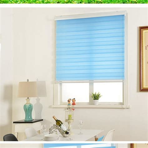 top finel 2016 thickening zebra blinds shutter double thicken blackout window blinds zebra roller blinds shades