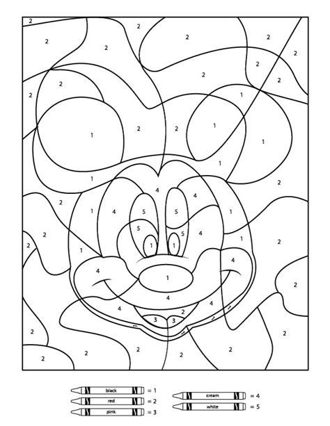 color by number printables your children will these free disney color by number