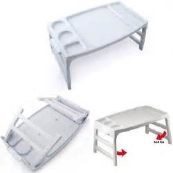 Folding Bed Tray Folding Bed Tray White Plastic Breakfast In Bed Serving Tray With Cup Holder New Ebay