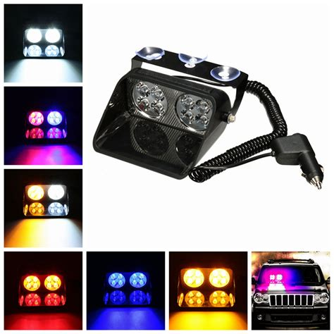 led lights hazard car truck dash windshield 8 led warning hazard emergency