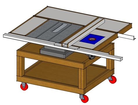 custom made table saw stands plans for table saw stand