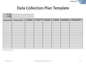 Data Collection Plan Template by Data Collection Plan Template Statistical Process