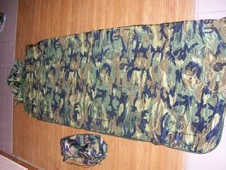 Baju Hujan Askar gaya ala tentera sleeping bag loreng