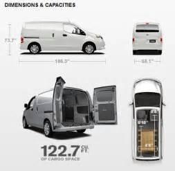 Nissan Nv200 Specification Nissan Nv Cargo Dimensions 2017 Ototrends Net