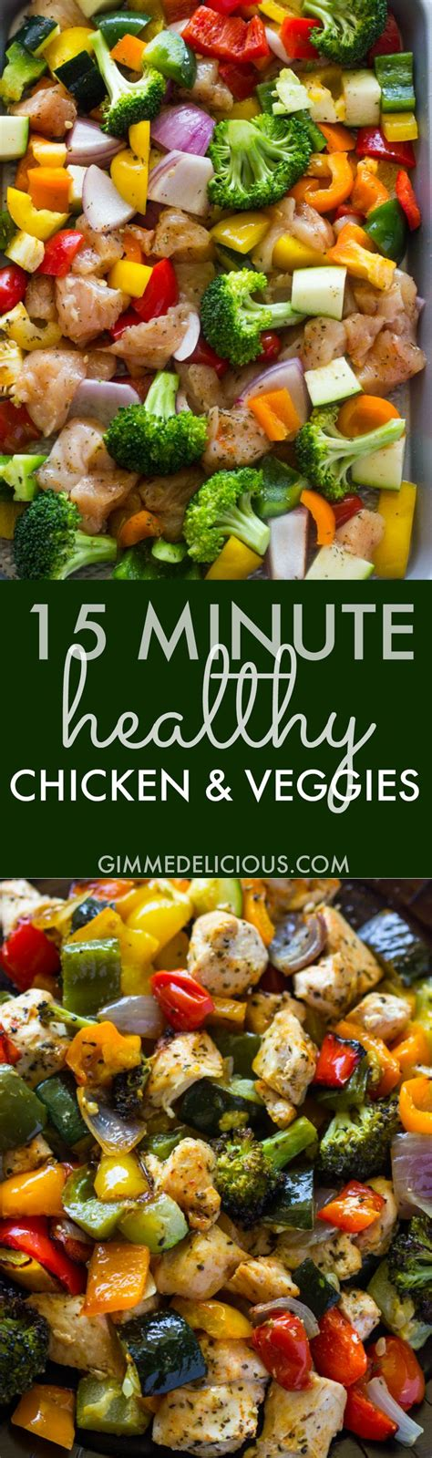 15 minute healthy roasted chicken and veggies one 25 best ideas about chicken meal prep on food