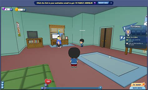 family guy living room i m playing family guy online right now