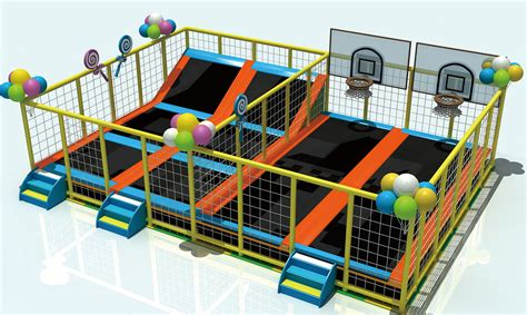 different size outdoor trampoline playground for sale