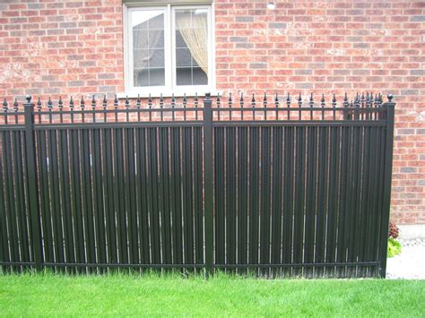 The Secure Home Design Group by Privacy Fence Picketed Aluminum Railings Toronto